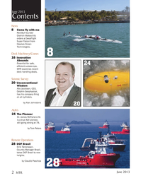 Marine Technology Magazine, page 2,  Jun 2013