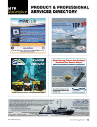 Marine Technology Magazine, page 45,  Jun 2013