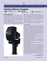Marine Technology Magazine, page 52,  Jul 2013 3D MicroBathym- etry solution