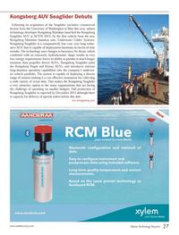 Marine Technology Magazine, page 27,  Sep 2013 University of Washington