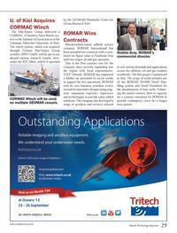 Marine Technology Magazine, page 29,  Sep 2013 SS1000 Swarf Han- dling system