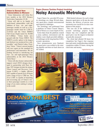 Marine Technology Magazine, page 30,  Sep 2013 Patrick Lahey