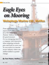 Marine Technology Magazine, page 36,  Sep 2013 Mooring Welaptega Welaptega Marine Ltd.