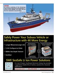 Marine Technology Magazine, page 61,  Sep 2013 search vessel