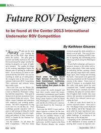 Marine Technology Magazine, page 66,  Sep 2013 Kathleen Gleaves