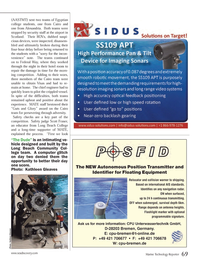 Marine Technology Magazine, page 69,  Sep 2013 cious devices