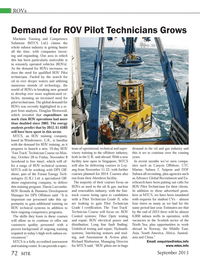 Marine Technology Magazine, page 72,  Sep 2013