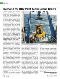 Marine Technology Magazine, page 72,  Sep 2013 Richard Warburton