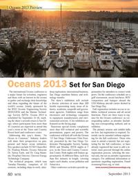 Marine Technology Magazine, page 80,  Sep 2013 Sylvia Earle