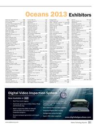 Marine Technology Magazine, page 81,  Sep 2013 400 Underwater Technology