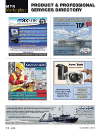 Marine Technology Magazine, page 94,  Sep 2013