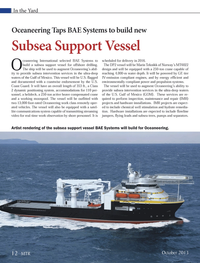 Marine Technology Magazine, page 12,  Oct 2013