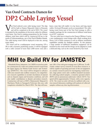 Marine Technology Magazine, page 14,  Oct 2013