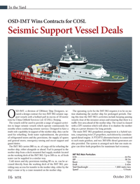 Marine Technology Magazine, page 16,  Oct 2013