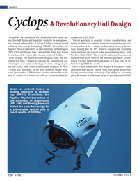 Marine Technology Magazine, page 18,  Oct 2013 manufacturing stage