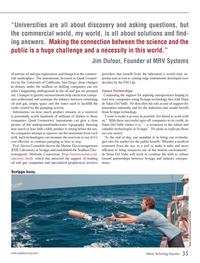 Marine Technology Magazine, page 35,  Oct 2013 Jim Dufour