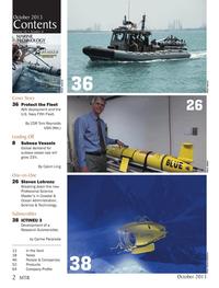 Marine Technology Magazine, page 2,  Oct 2013 Steven Lohrenz Breaking