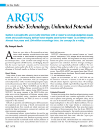 Marine Technology Magazine, page 42,  Oct 2013 self-enabling technology