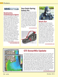 Marine Technology Magazine, page 54,  Oct 2013 3D imaging capabilities