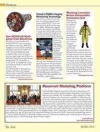 Marine Technology Magazine, page 56,  Oct 2013 Tritech