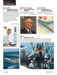 Marine Technology Magazine, page 4,  Oct 2013