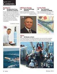 Marine Technology Magazine, page 4,  Oct 2013 Kathleen Gleaves