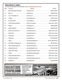 Marine Technology Magazine, page 63,  Oct 2013 BIRNS Inc.