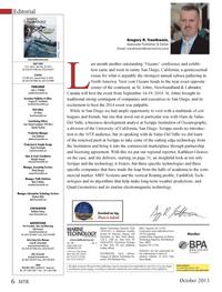 Marine Technology Magazine, page 6,  Oct 2013 Newfoundland