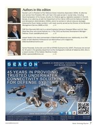 Marine Technology Magazine, page 7,  Oct 2013 United States Senate