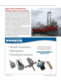 Marine Technology Magazine, page 27,  Nov 2013 Fugro?s Offshore Geotechnical Division
