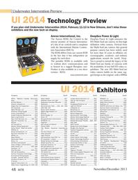 Marine Technology Magazine, page 48,  Nov 2013 2014 Technology