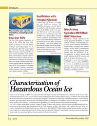 Marine Technology Magazine, page 56,  Nov 2013 Radarsat Constellation Mission