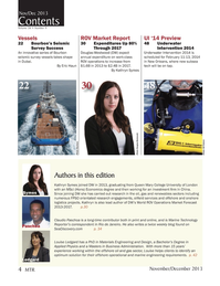 Marine Technology Magazine, page 4,  Nov 2013 oil and gas sector