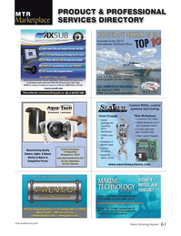 Marine Technology Magazine, page 61,  Nov 2013