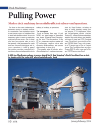 Marine Technology Magazine, page 10,  Jan 2014 Triplex AS