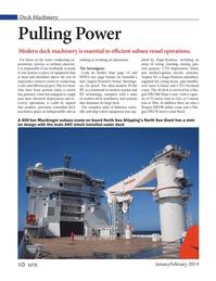 Marine Technology Magazine, page 10,  Jan 2014 Triplex AS
