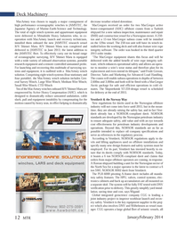 Marine Technology Magazine, page 12,  Jan 2014 Wigand