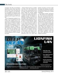 Marine Technology Magazine, page 28,  Jan 2014 Stephen Green
