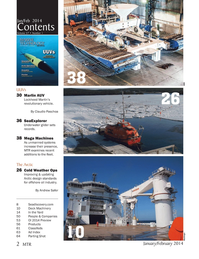 Marine Technology Magazine, page 2,  Jan 2014