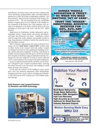 Marine Technology Magazine, page 41,  Jan 2014 iCON technology