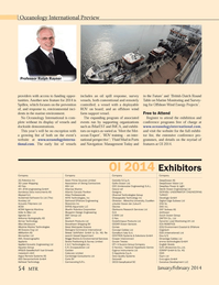 Marine Technology Magazine, page 54,  Jan 2014
