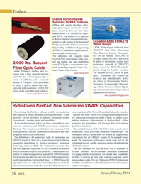 Marine Technology Magazine, page 56,  Jan 2014 Hydrographic Service