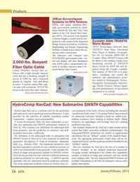 Marine Technology Magazine, page 56,  Jan 2014 Hydrographic Service
