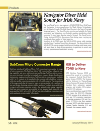 Marine Technology Magazine, page 58,  Jan 2014