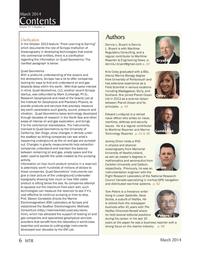 Marine Technology Magazine, page 6,  Mar 2014