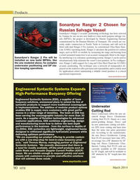 Marine Technology Magazine, page 90,  Mar 2014
