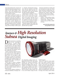 Marine Technology Magazine, page 10,  Apr 2014 digital imaging