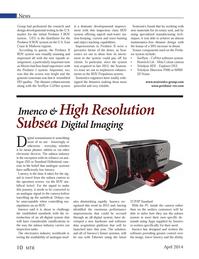 Marine Technology Magazine, page 10,  Apr 2014 digital imaging