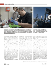 Marine Technology Magazine, page 22,  Apr 2014 Woods Hole