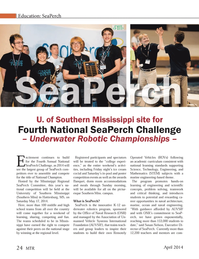 Marine Technology Magazine, page 24,  Apr 2014 University of Southern Mississippi